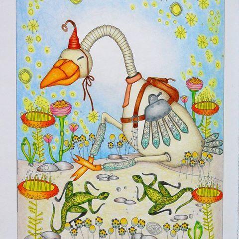 #раскраска_антистресс #раскраскадлявзрослых #арттерапия  #coloringbook #antistress #зендудл #диляраголубятникова #книгараскраска  #artterapy #coloring #art