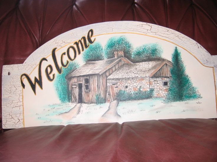 Shed Welcome Sign