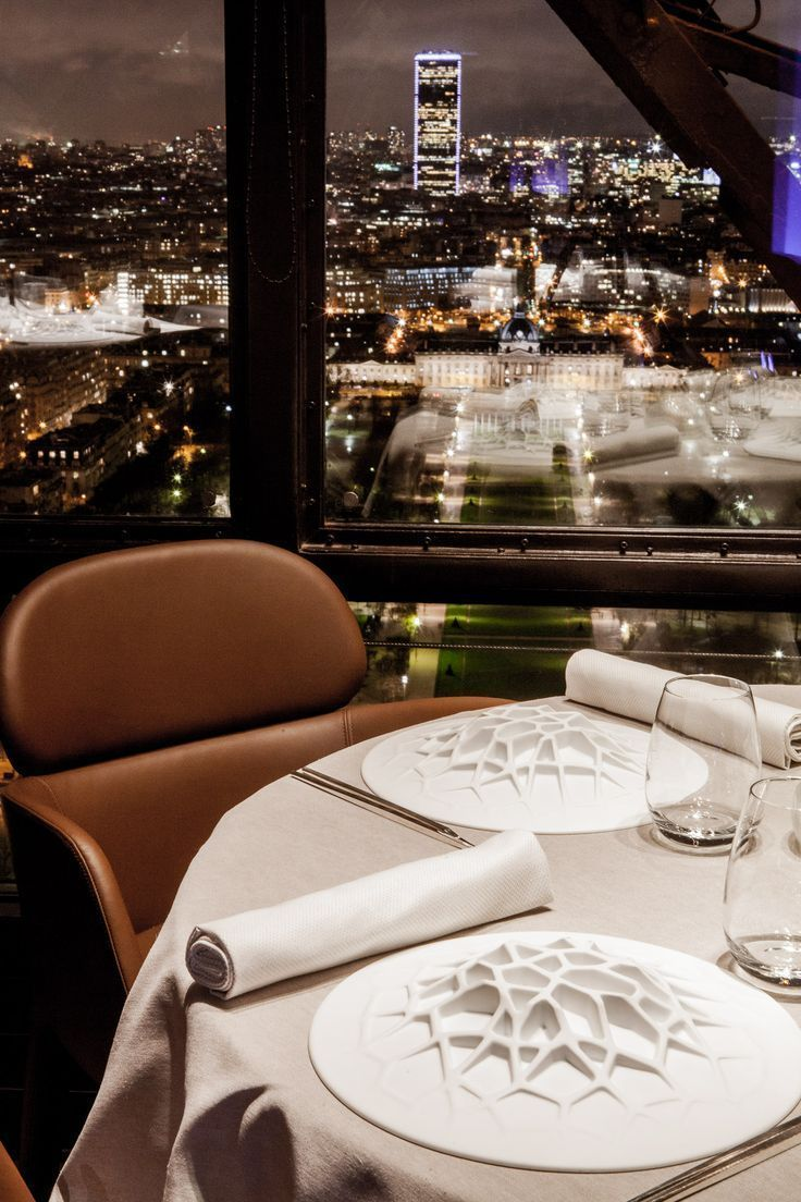 The view from Le Jules Verne restaurant on the second floor of the Eiffel Tower in Paris is spectacular at night, especially paired with a Michelin-star dinner.