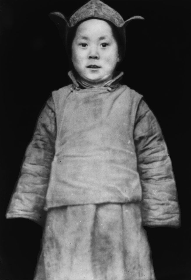 His Holiness, Dalai Lama posing soon after the search party discovered him in 1939 in Kumbum, Amdo, Tibet (via http://www.dalailama.com/gallery/album/2/19#ad-image-1)