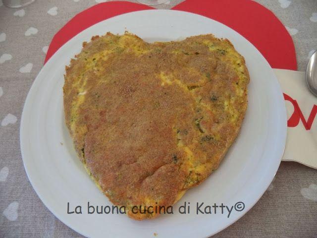 La buona cucina di Katty: Cuore di frittata ai broccoletti e patate