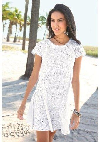 Šaty se švýcarskou výšivkou #ModinoCZ #dress #krajka #lace