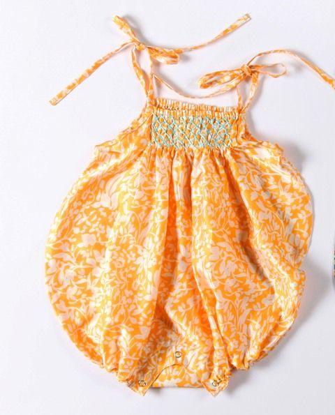 Coco & Ginger Silk Petal Sunsuit Mango Size 6-12mth  12-18mth  18-24mth