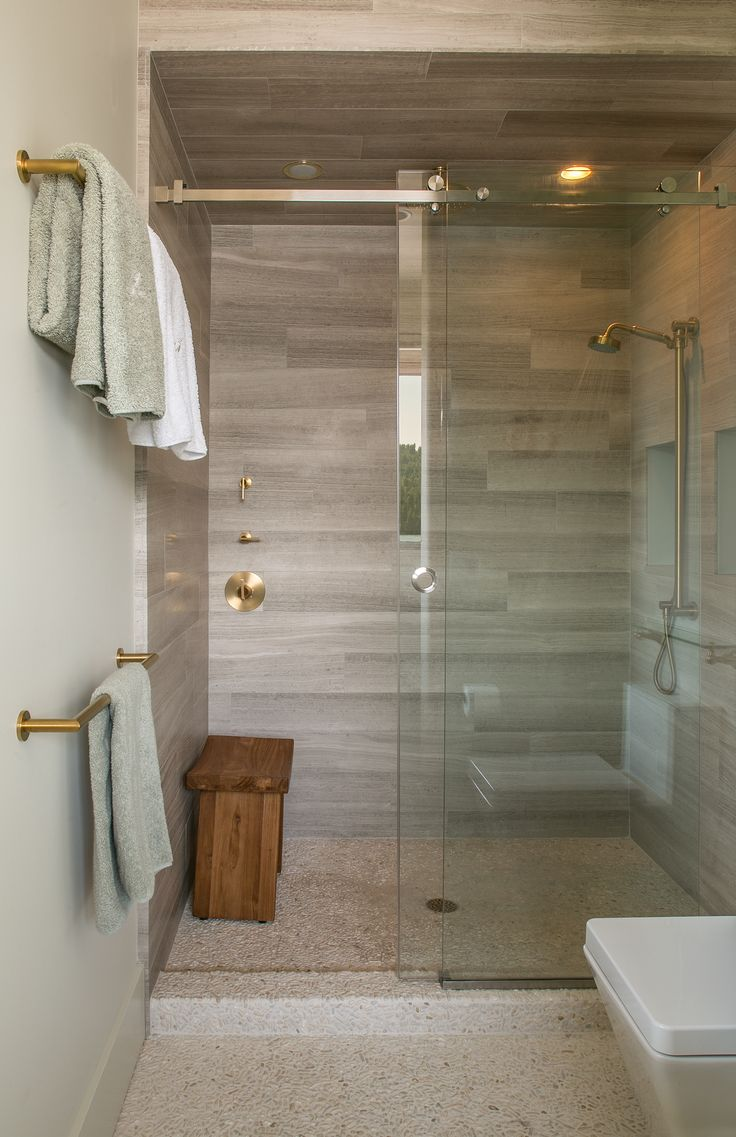 Guest Bathroom Shower 6 Quot X24 Quot Ashen Gray Limestone Tiles