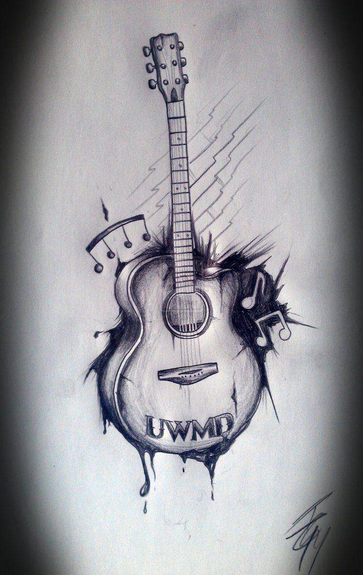 Musical Guitar Tattoo Art