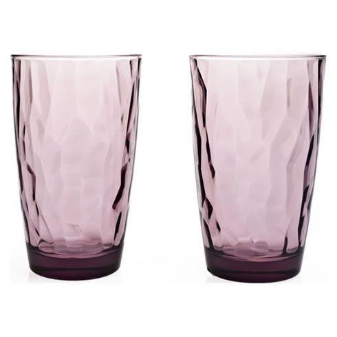 Σετ ποτήρια χυμού- νερού 6 τεμαχίων διάφανα, από φυσητό γυαλί, χρώμα μωβ, ιταλικής κατασκευής του οίκου Bormioli. Ποτήρια με κομψό και μοντέρνο σχεδιασμό που ξεχωρίζει για τη διαύγεια του.