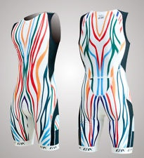 """NO WAY ....... NEW Limited-edition, """"Technocolor"""" tri suit!  --> HEY! Any male triathletes out there that need attention when training or racing?  I'm sure with this tri suit, you would get it! Think it's cool, actually :)"""