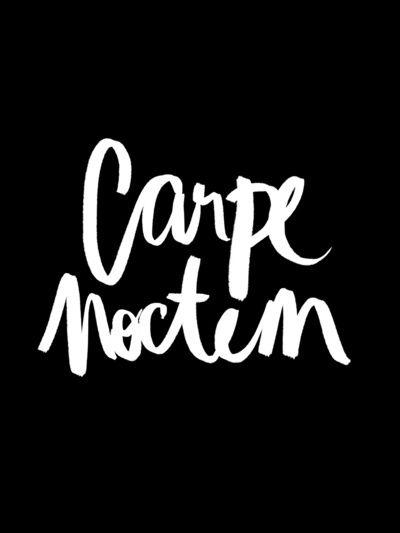 Carpe Noctem Stretched Canvas