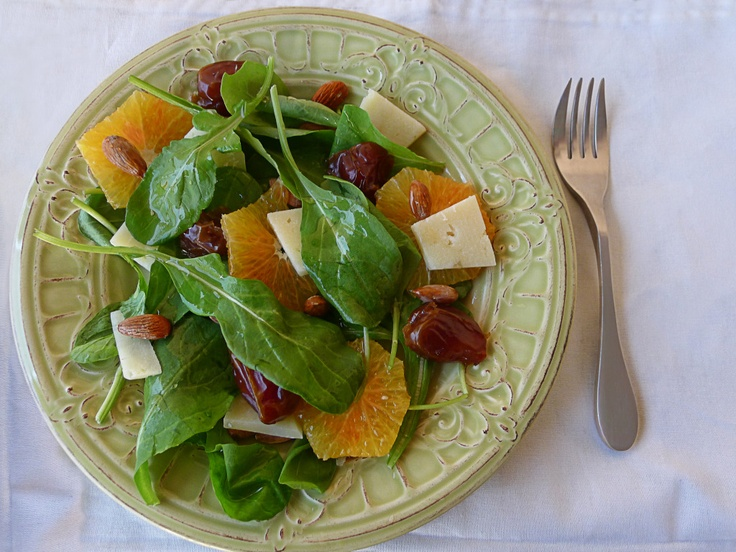 Blood orange, dates, parmesean and almond salad