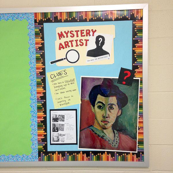 mystery artist bulletin board