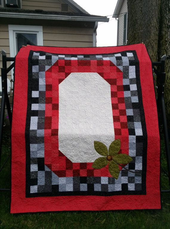 Hey, I found this really awesome Etsy listing at https://www.etsy.com/listing/193767551/osu-buckeyes-ohio-state-quilt-twin-quilt