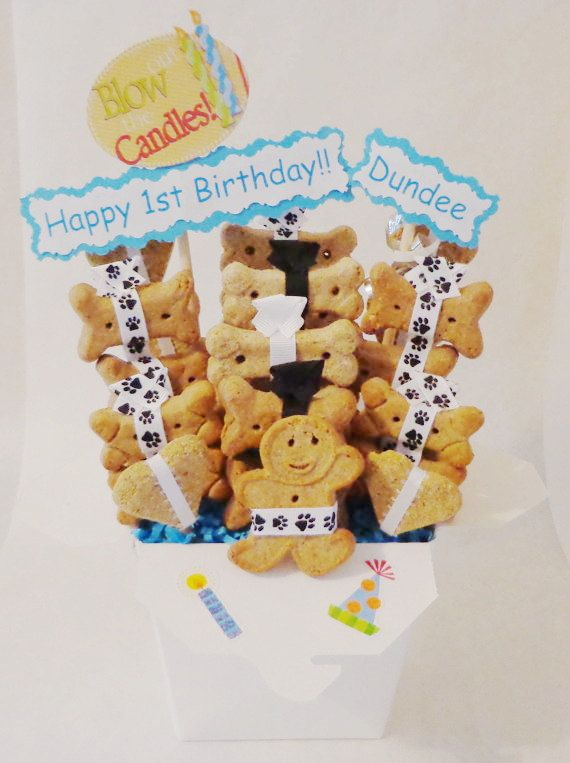 Celebrate Your Pets On ANY Occasion With An Adorable Personalized Treat Gift Basket Custom Made For Dogs Cats And Ferrets Etsy Birthday