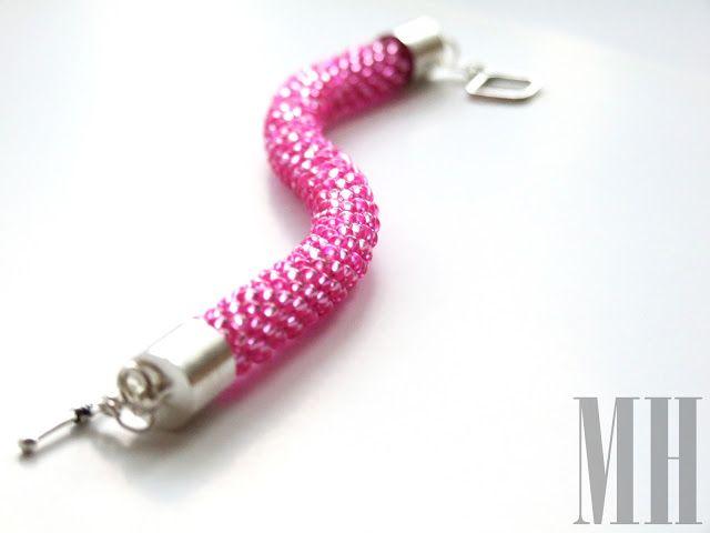 Różowa lak landrynka | MH Biżuteria - cuda ręcznie wykonane