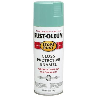 Rust-Oleum Stops Rust 12 oz. Gloss Light Turquoise Protective Enamel Spray Paint (6-Pack)-284678 - The Home Depot