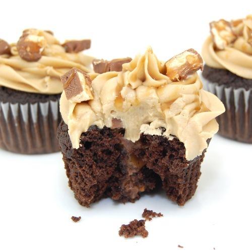 Snickers Cupcakes ...Made these a couple of times and they are melt-in-your-mouth YUMMY