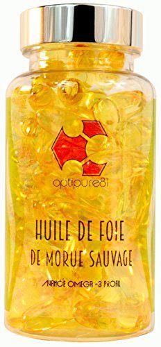 Optipure81 – Huile de foie de morue sauvage pure – 60 capsules – Source en Oméga 3, acide gras, DHA, vitamines A & D – Support pour la…