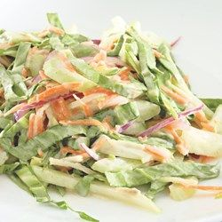Crunchy Bok Choy Slaw  - EatingWell.com note, add a julienned apple to cut the bitterness of the book choy.