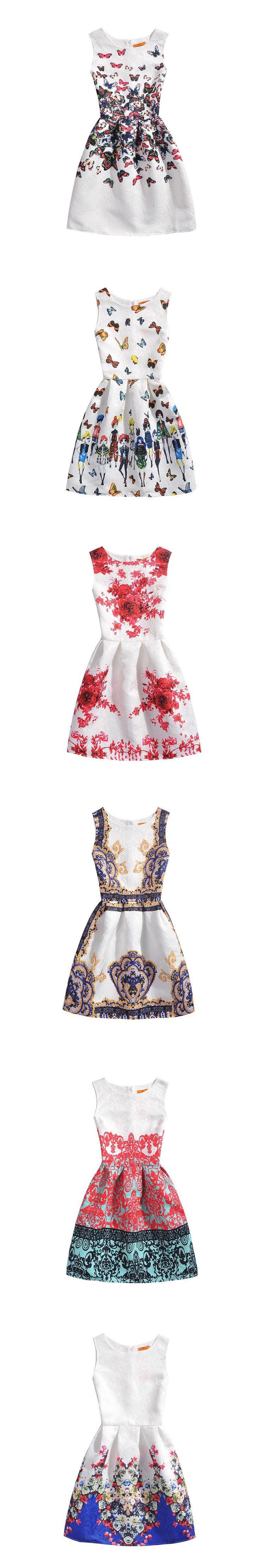 New Teenage Girls Dress Kids Printing Summer Dress Slim Sleeveless Princess Sofia Dress Kids Clothes For Girls 6 7 8 9 Year Olds $13.99