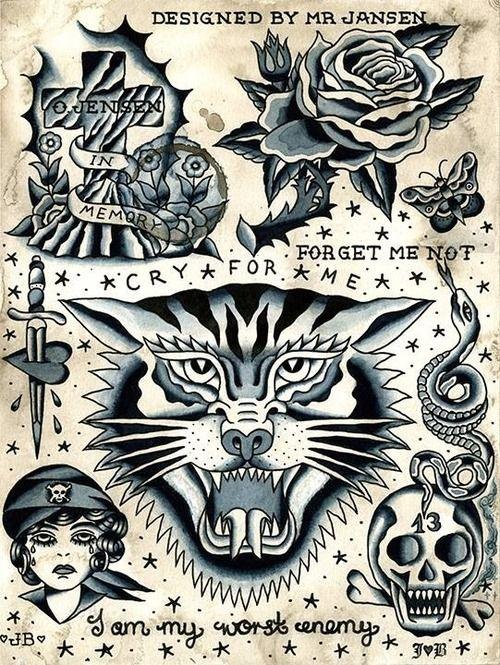 Mr Jansen Tattoo Flash | KYSA #ink #design #tattoo