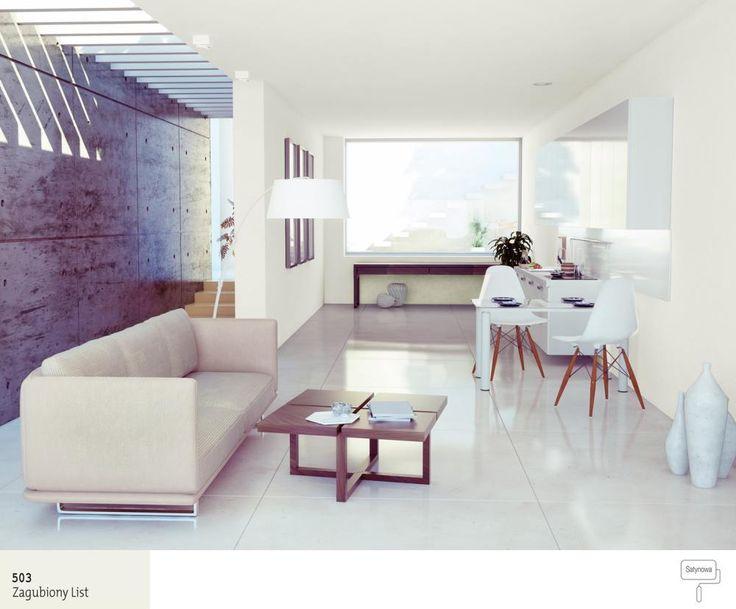 Nowoczesny salon w kolorze szarym Salon - inspiracje Pinterest - marmorboden wohnzimmer