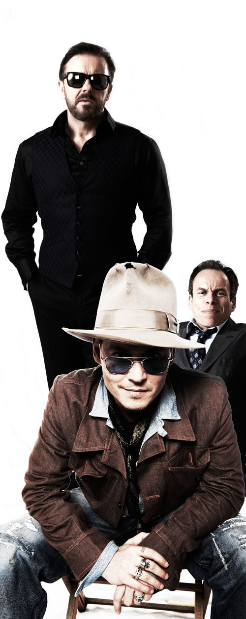Life's Too Short Warwick Davis, Ricky Gervais and Johnny Depp