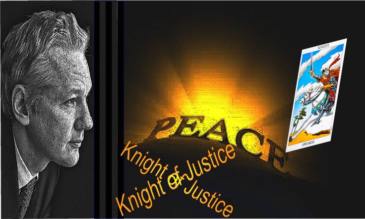 Julian Assange captures the energy of Knight of Swords perfectly. Knight of swords people fight for what they believe in and often end up in conflict situations. Knight of swords represents our brave activists.
