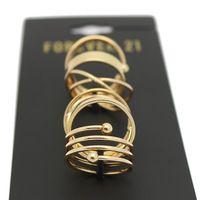 Promation moda última moda Punk chapado en oro apilable Midi Vintage conjuntos de anillo para para Bagues Bijoux conjunto venta al por mayor