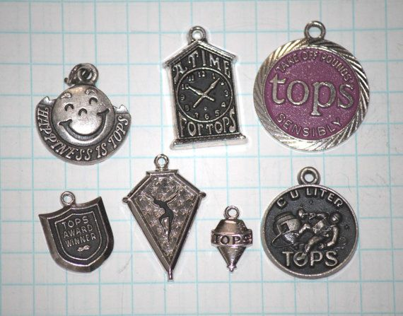 Silver Tops Charms by FindersKeeper on Etsy, $6.00