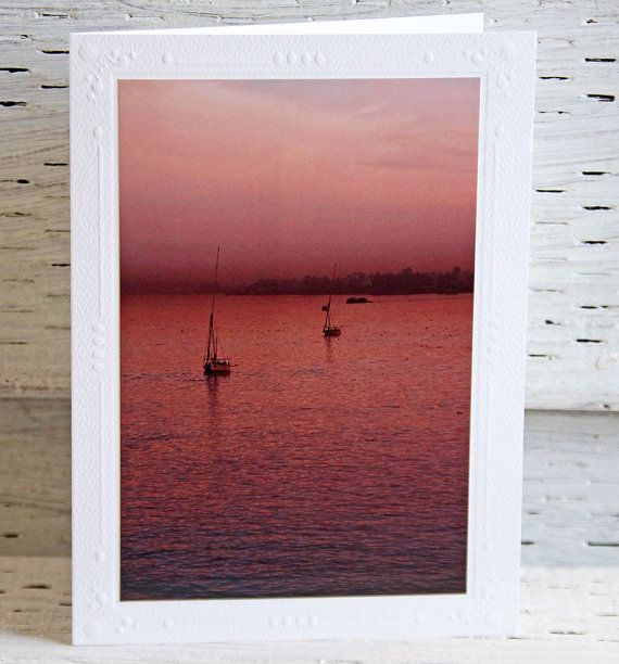 Pink Sunset over the Nile Photo Greeting Card Fine Art