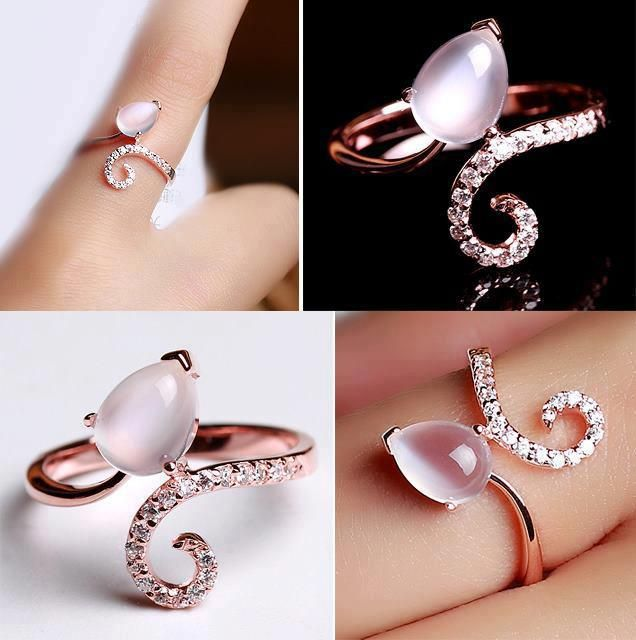 and charming pink ring jewelry