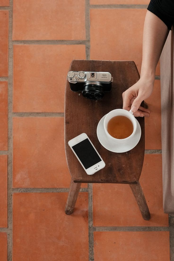 Free stock photo of fashion, woman, coffee, camera