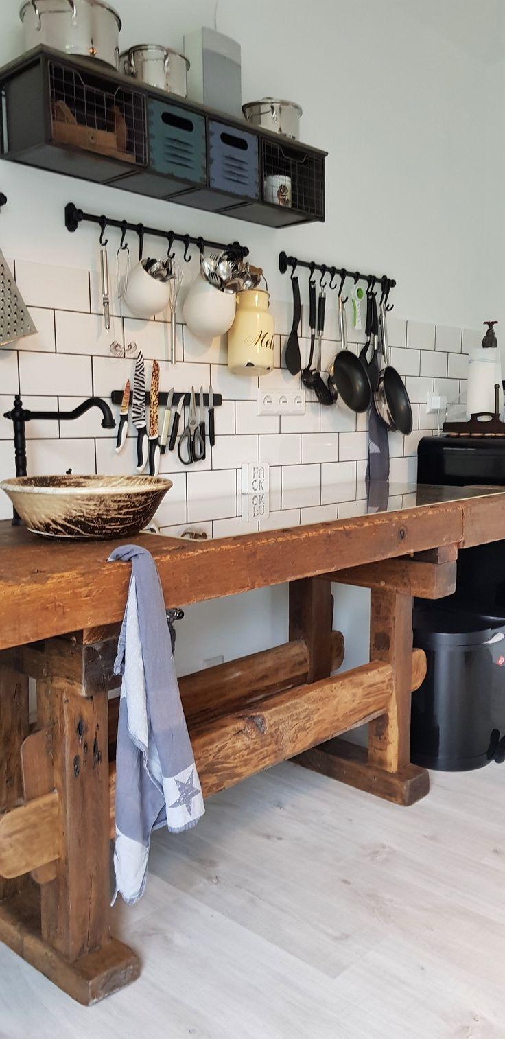 Hobelbank Werkbank Küche Küchenzeile in 2019 | Hobelbank ...