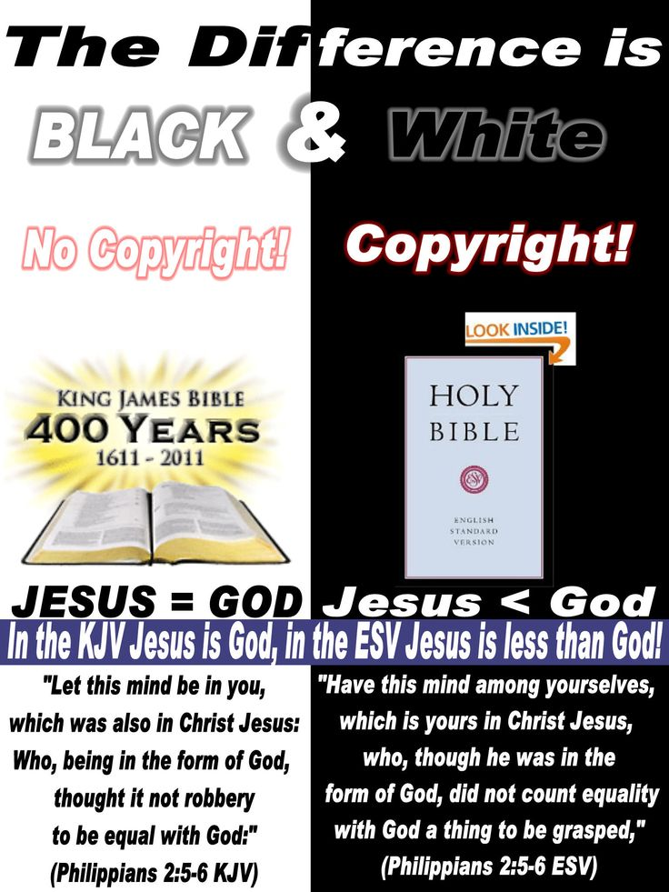 The difference in the King James Bible and modern versions is Black and White!