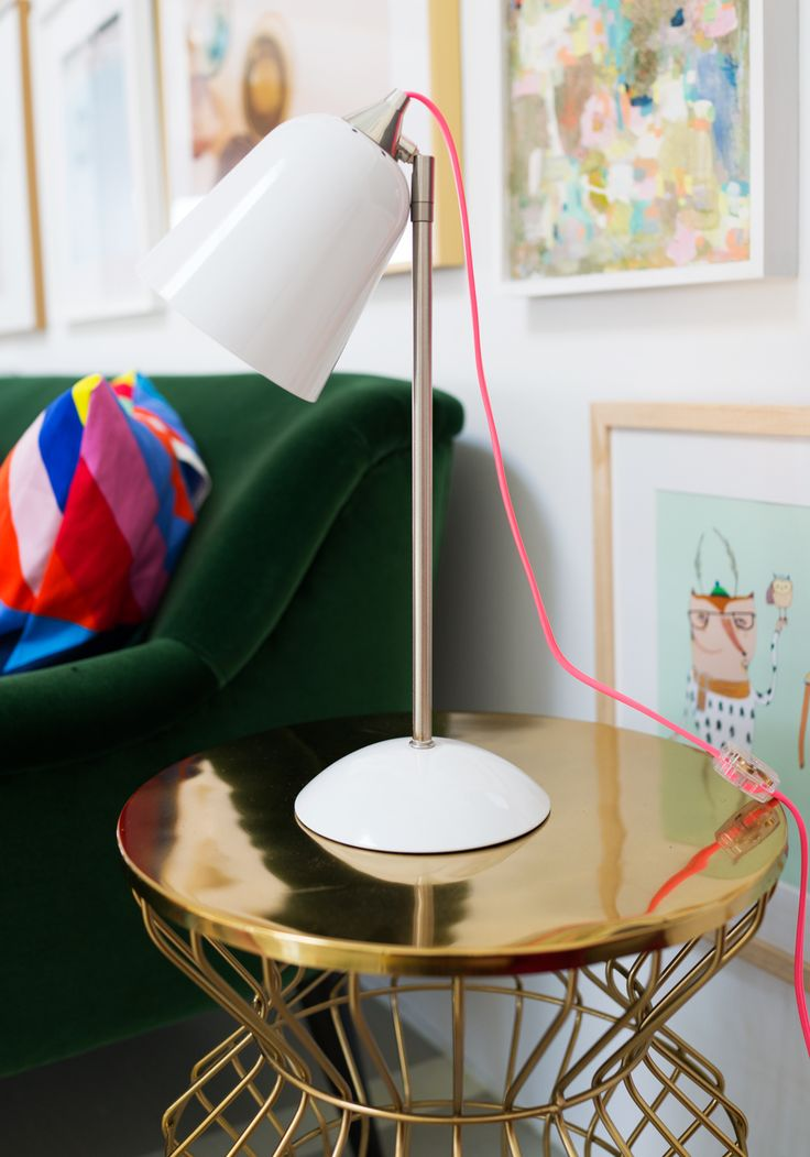 REFRESH | add a fun lamp to the corner of your living room for extra interest (and extra light!) | Photo by Oh Joy