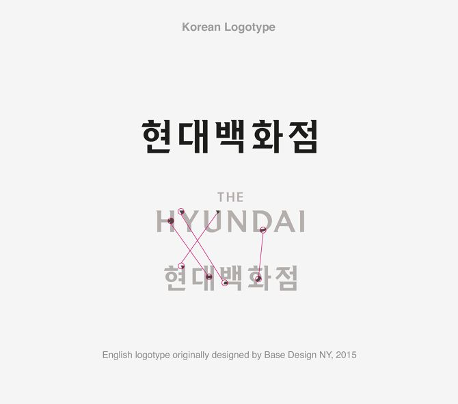 brand identity for The Hyundai - Jaemin Lee