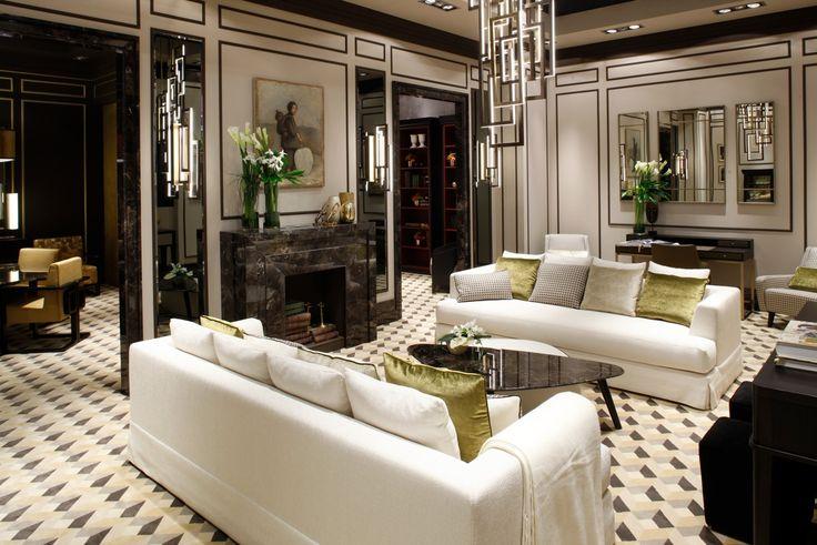 Booth Oasis Group, living room, at Salone del Mobile Milano designed by Massimiliano Raggi #luxury #interior #design #furniture