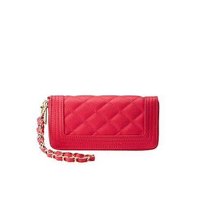 Pink Quilted Wristlet Wallet