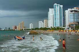Playas de Bocagrande - Cartagena  (Colombia)