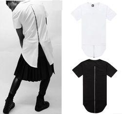 Online Shop Men t shirt tyga cool oversized Gold side zipper hip hop extended t-shirt tee hba jay-z casual lenther Red Plaid tee shirt XXXL|Aliexpress Mobile
