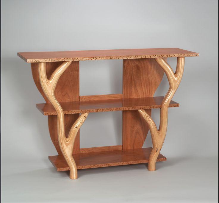 Gorgeous cherry tree branch bookshelf wood artists for Tree shelving unit