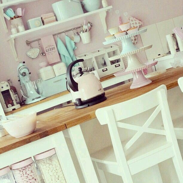 Girly Kitchen Decor: 72 Best My Future Bakery Images On Pinterest