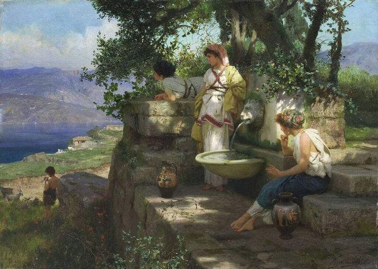 Henryk Siemiradzki, Odpoczynek 1896, olej, płótno