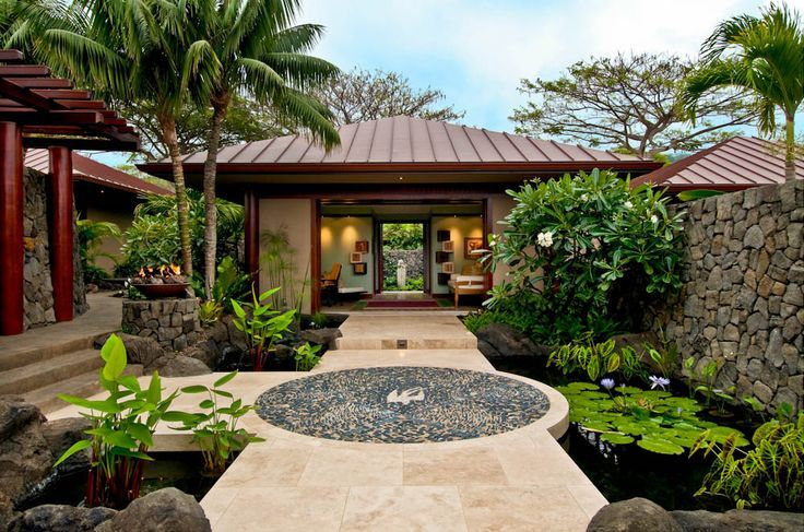 Modern resort entrance landscape architecture google for Landscape design hawaii