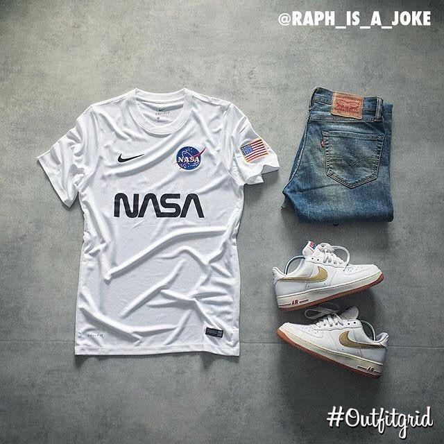 Today's top #outfitgrid is by @raph_is_a_joke. ▫️#ConceptClub #NASA #Nike…