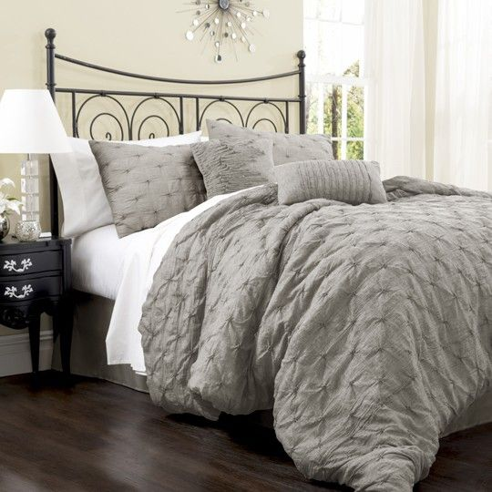 Lake Como 4 Piece Grey Comforter Set $190 - this looks comfy but maybe too warm for az nights year round???