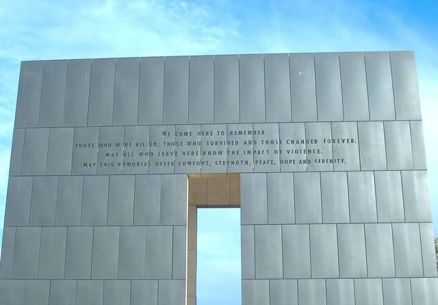 Get information on the Oklahoma City National Memorial and Museum, including the history behind it, the design, location, exhibits and the Survivor Tree.