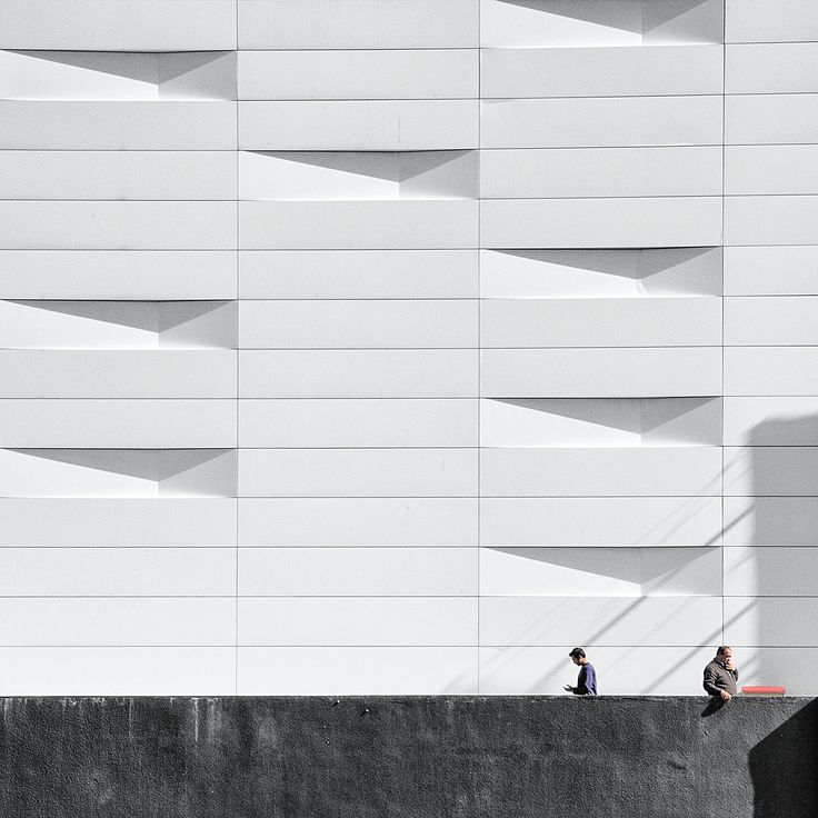 White wall, black thoughts - by Serge Najjar
