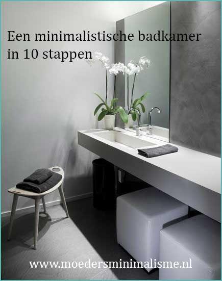 Een minimalistische badkamer in 10 stappen! http://www.moedersminimalisme.nl/een-minimalistische-badkamer/