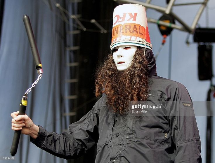 Guitarist Buckethead uses a nunchaku weapon during his performance with the band Praxis at the Vegoose music festival at Sam Boyd Stadium's Star Nursery Field October 28, 2006 in Las Vegas, Nevada.