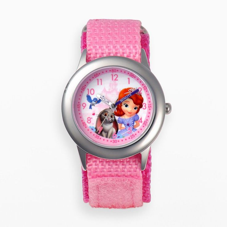 Disney's Sofia the First & Clover Kids' Time Teacher Watch, Girl's, Pink